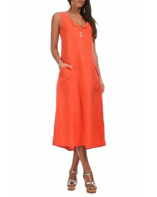 Eva tralala | Женское Оранжевое Платье
