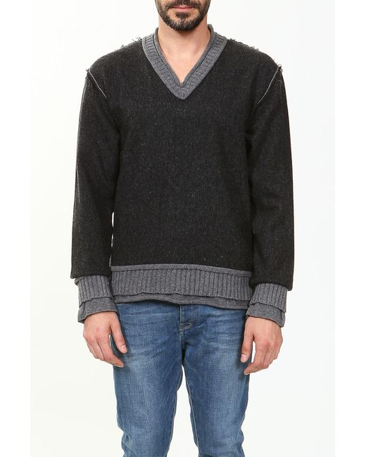 Dolce & Gabbana | Мужской Серый Пуловер Вязаный