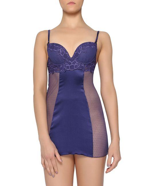 La Perla   Женская Синяя Ночная Сорочка