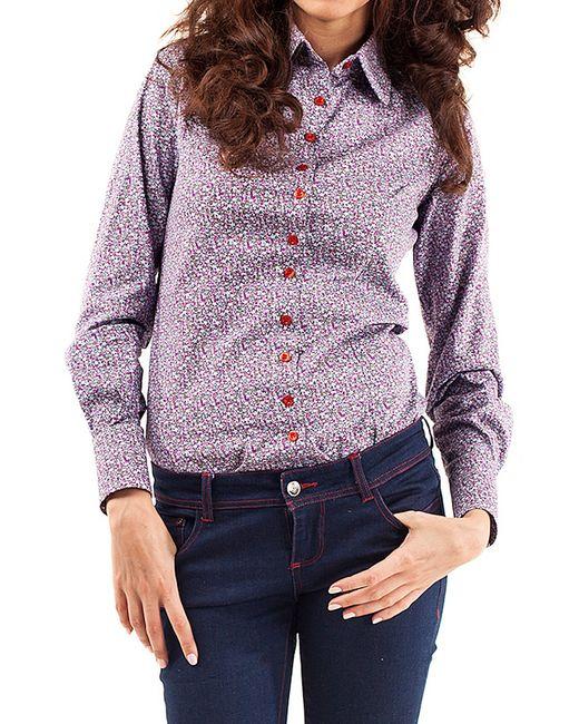Magnetiq | Женская Фиолетовая Рубашка