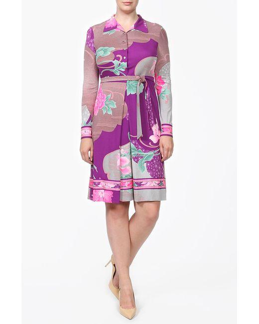 Leonard | Женское Фиолетовое Платье Пояс