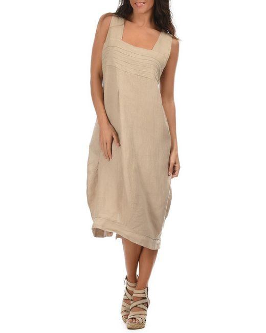 LIN POUR L'AUTRE | Женское Бежевое Платье