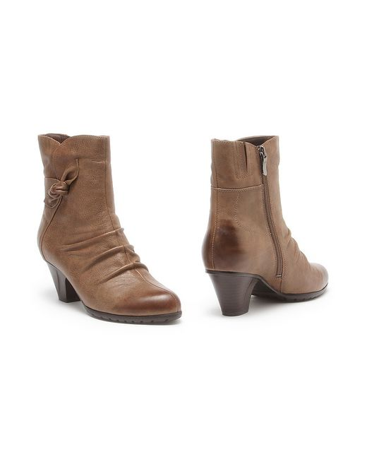 Makfly   Женские Бежевые Ботинки