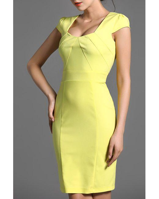 Baoyan   Женское Жёлтое Платье