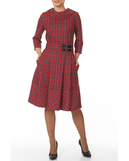 Argent   Женское Красное Платье С Поясом