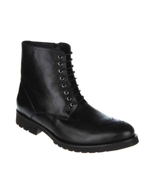 Paolo Conte | Мужские Чёрные Ботинки Закрытые