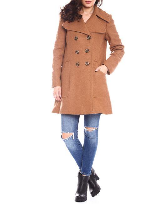 Moda Di Chiara   Женское Коричневое Пальто