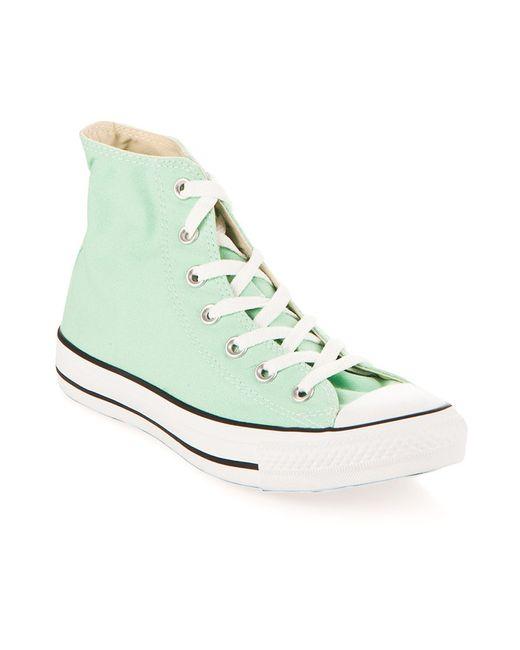 Converse   Женские Зелёные Кеды