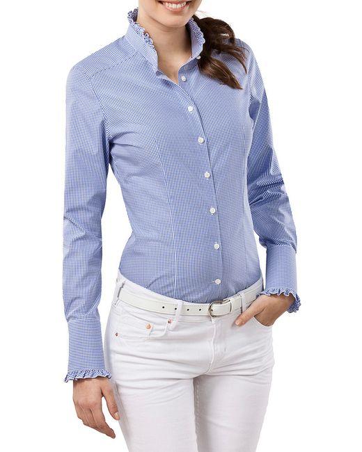 Vincenzo Boretti   Женская Синяя Рубашка