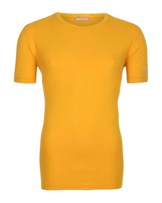 Galliano | Мужская Оранжевая Футболка