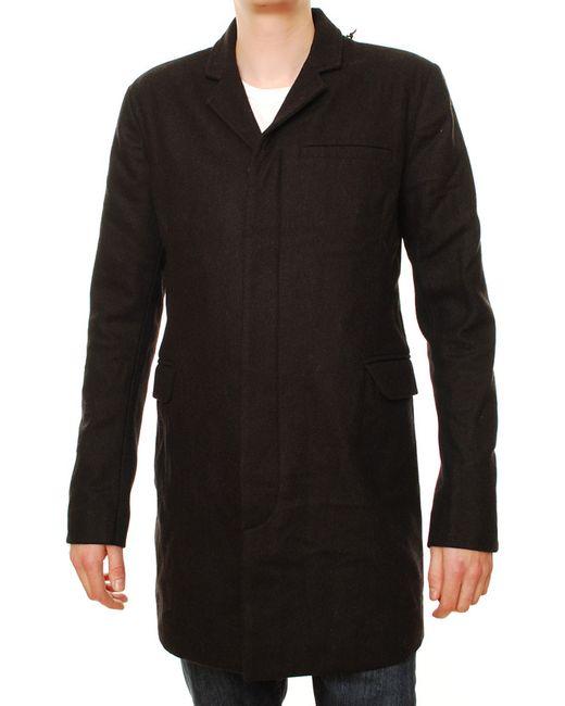 Denham | Мужское Чёрное Пальто