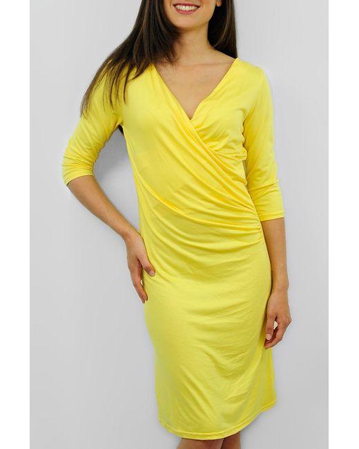 Cote anglaise | Женское Жёлтое Платье