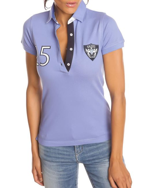 Gazoil   Женская Синяя Рубашка-Поло