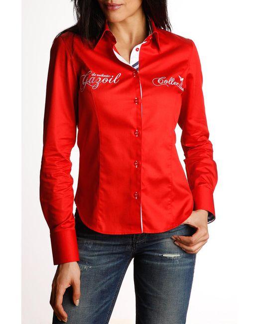 Gazoil   Женская Красная Рубашка