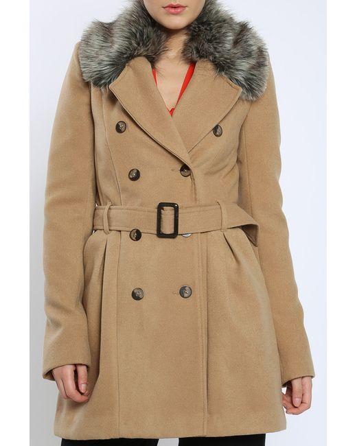 Moda Di Chiara | Женское Коричневое Пальто