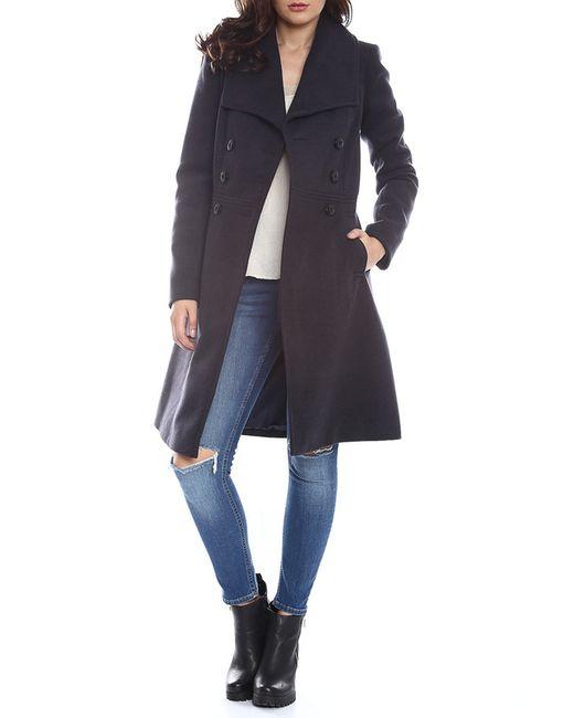 Moda Di Chiara   Женское Синее Пальто