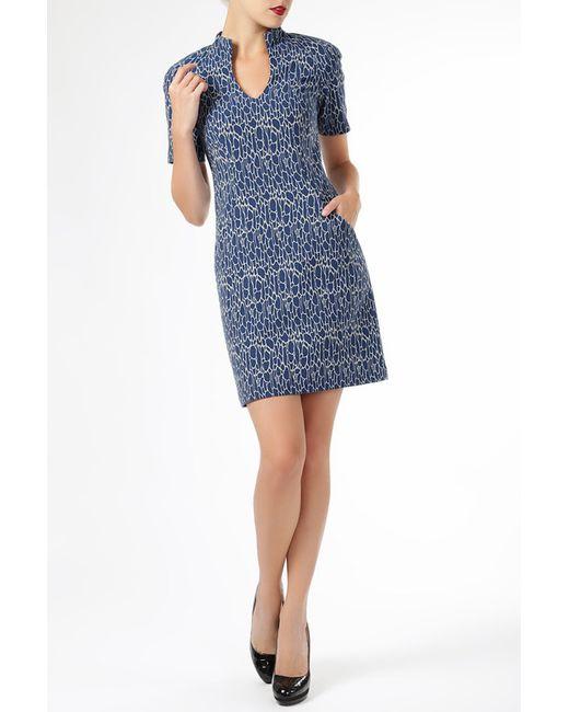 ELLEN EISEMANN | Женское Синее Платье