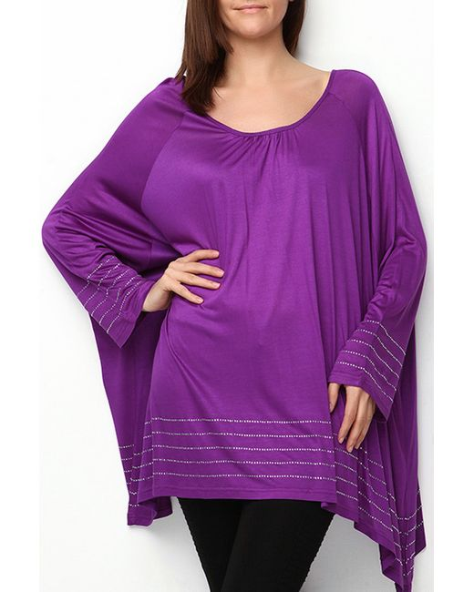Moda di Lorenza   Женская Фиолетовая Туника