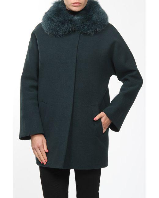 Амулет | Женское Зелёное Пальто