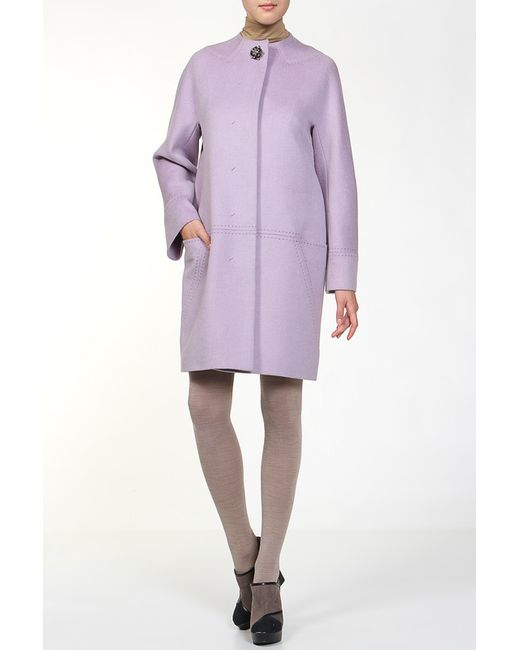 Анора | Женское Фиолетовое Пальто