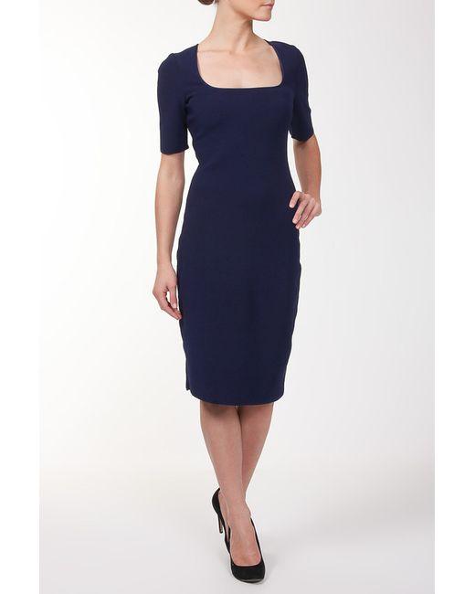 Lanvin | Женское Синее Платье Вязаное