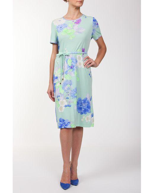 Leonard | Женское Голубое Платье Пояс
