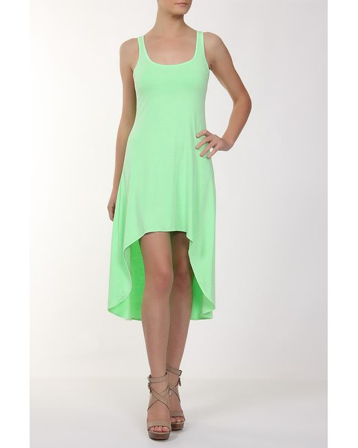 Feel The Piece | Женское Зелёное Платье Джерси