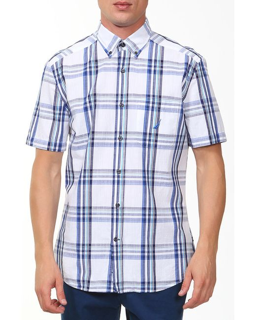Nautica   Мужская Синяя Рубашка