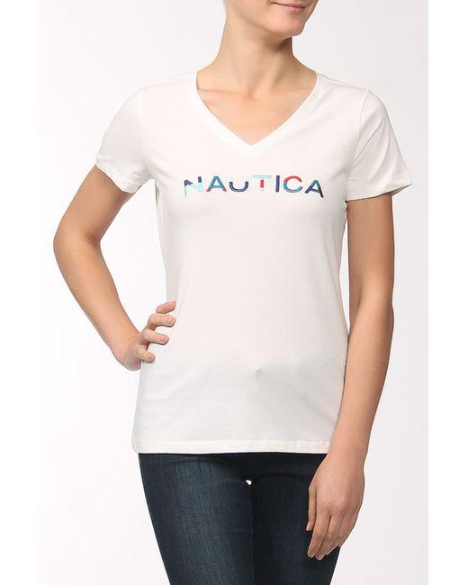 Nautica | Женская Белая Футболка