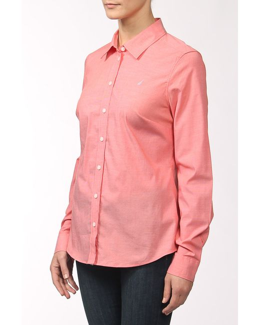 Nautica   Женская Розовая Рубашка