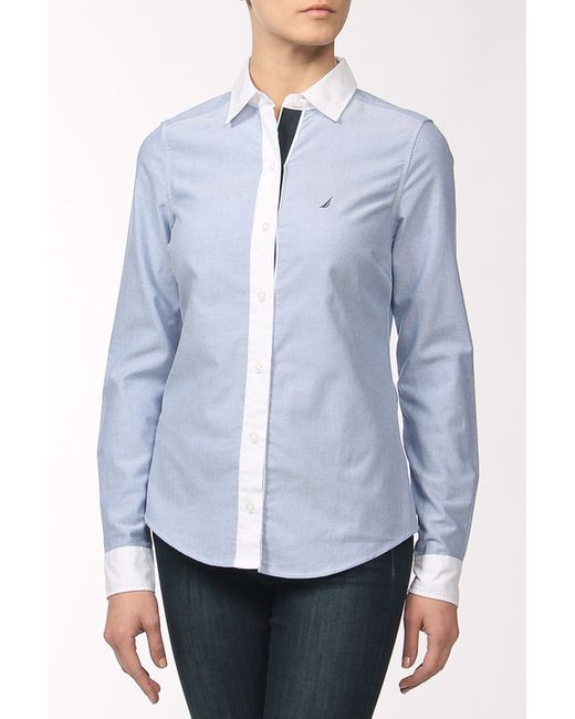 Nautica | Женская Синяя Рубашка