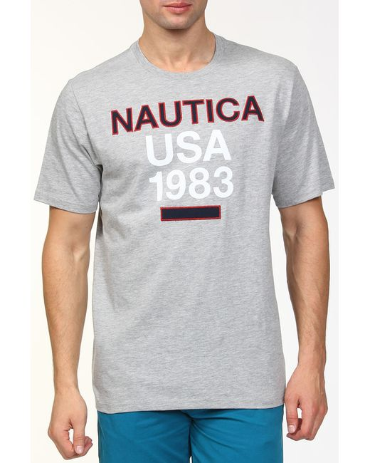 Nautica   Мужская Серая Футболка
