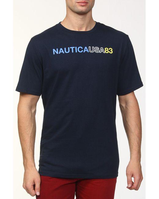 Nautica | Мужская Синяя Футболка