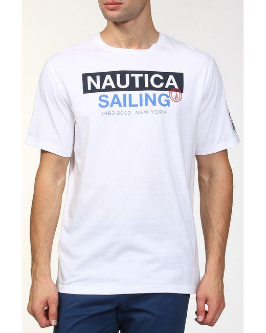 Nautica   Мужская Белая Футболка