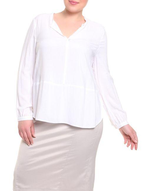 Queen Size | Женская Белая Блуза