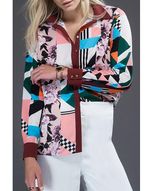 Milla | Женская Многоцветная Рубашка