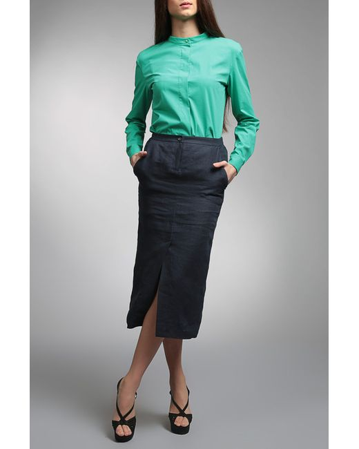 ЭНСО | Женская Зелёная Блузка