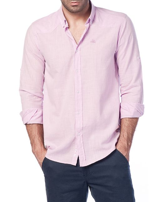 Kappa | Мужская Розовая Рубашка