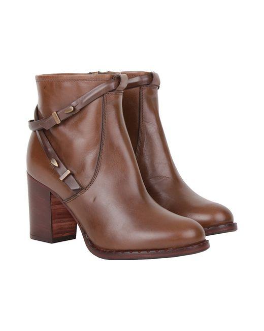 Alessandro | Женские Коричневые Ботинки