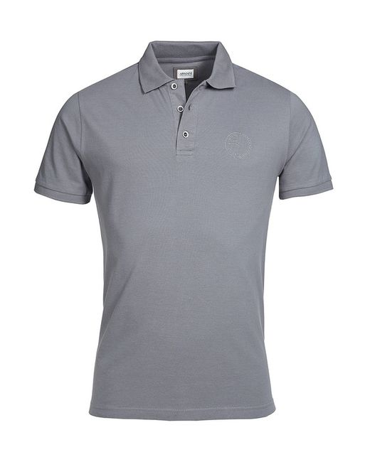 Armani Collezioni | Мужская Серая Рубашка-Поло