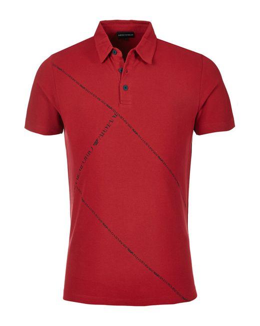 Emporio Armani | Мужская Красная Рубашка-Поло