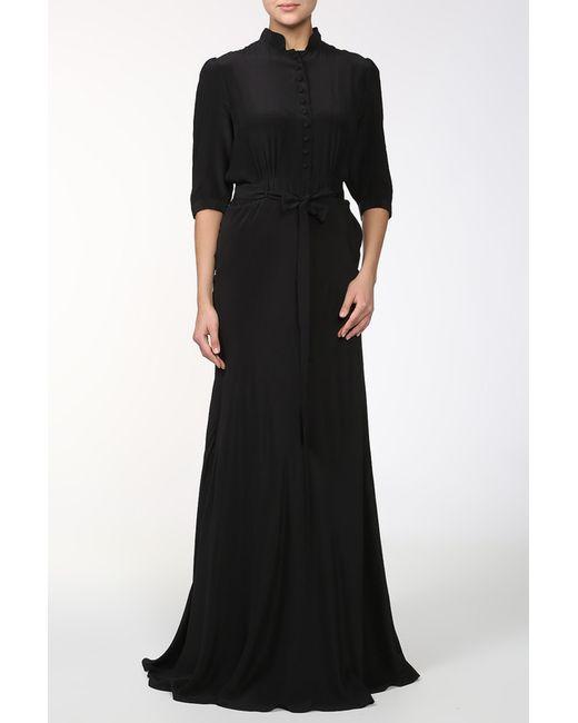 Pas Pour Toi   Женское Чёрное Платье С Поясом