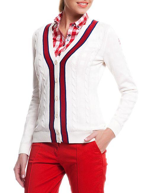 U.S. Polo Assn. | Женский Белый Кардиган