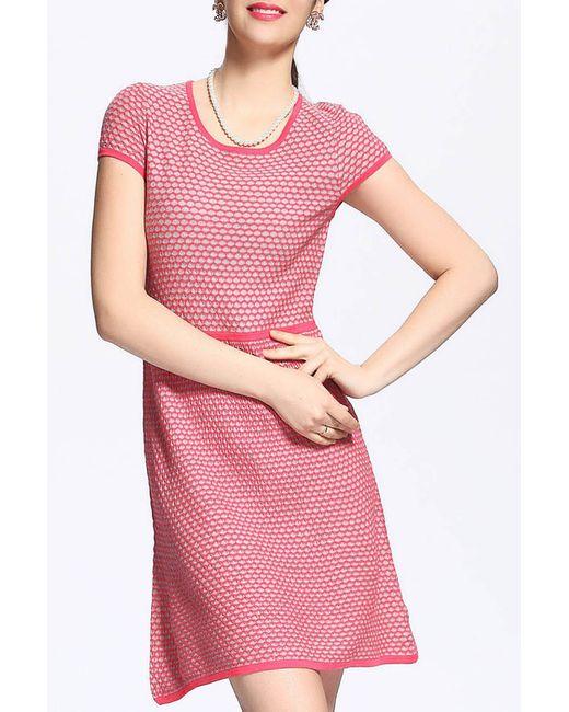 QIANQIU | Женское Розовое Платье