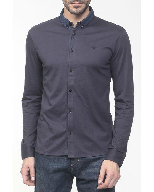 Emporio Armani | Мужская Синяя Рубашка