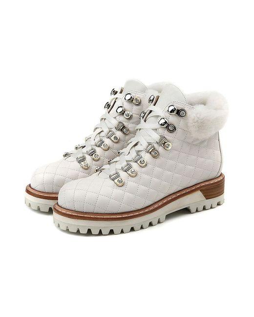 O.E   Женские Белые Ботинки
