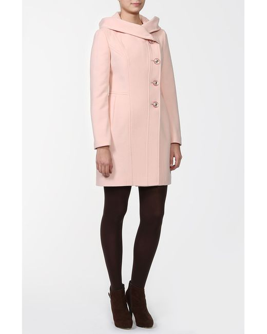 Амулет | Женское Розовое Пальто