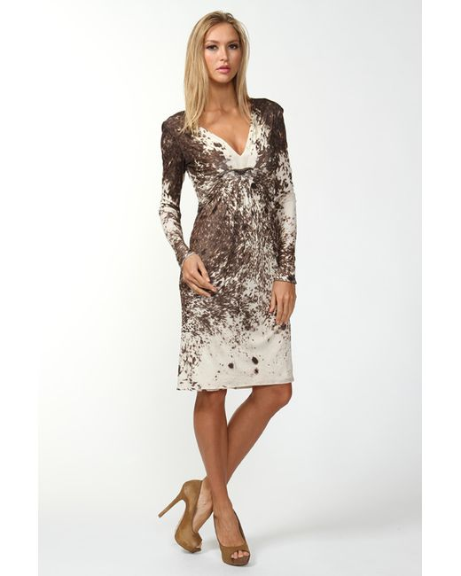 Roberto Cavalli | Женское Коричневое Платье Джерси