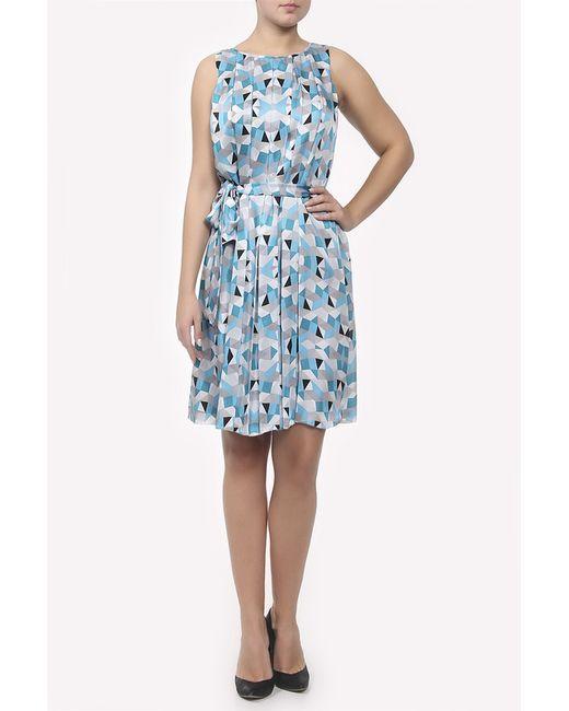 L.K. Bennett London   Женское Голубое Платье С Поясом