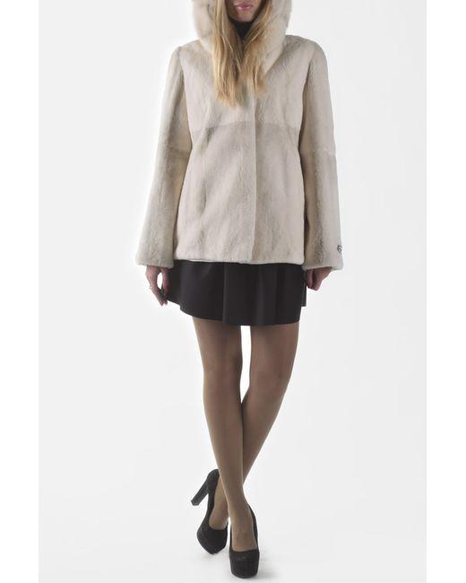 Меховая фабрика Bagiroff | Женская Белая Куртка